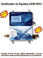 Dosificador de agua cuenta litros