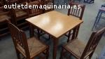 Juego de sillas y mesa para meson